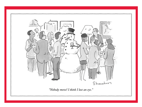 Nobody Move Snowman New Yorker Card