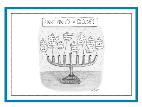 Eight Nights of Excuses New Yorker Card