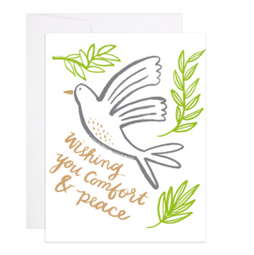 Comfort and Peace Dove Card