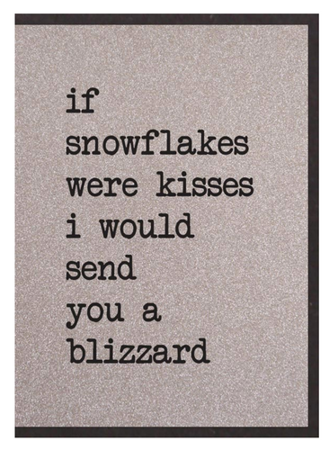 If Snowflakes Were Kisses Card