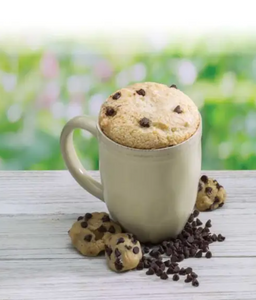 Chocolate Chip Cookie Microwave Cake