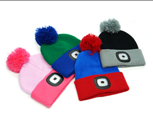 Kids Flash Light Beanies