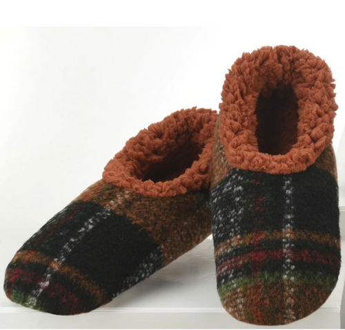Rust Plaid Men's Slipper