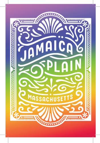 Rainbow Jamaica Plain Postcard