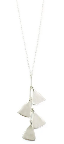 Bliss - Four Stacked Leaves Silver Neck
