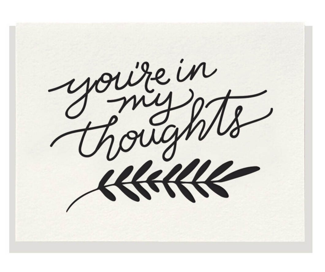 In My Thoughts Card