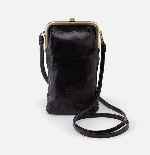 Black Leather Melody Crossbody