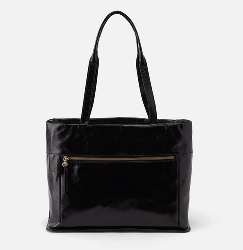 Black Fresco Leather Tote