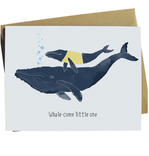 Whale-come Little One Card