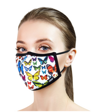 Load image into Gallery viewer, Odd Sox Adult Face Mask Butterflies