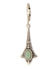 Load image into Gallery viewer, Green Ornate Vintage Teardrop Earrings