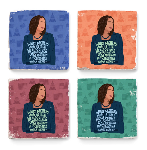 Kamala Harris Quote Coaster
