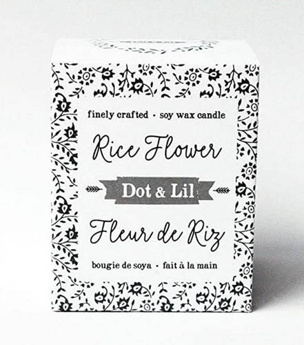 Dot & Lil 8oz Candle Rice Flower
