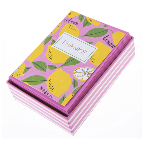 Lemon Thank You Box Cards
