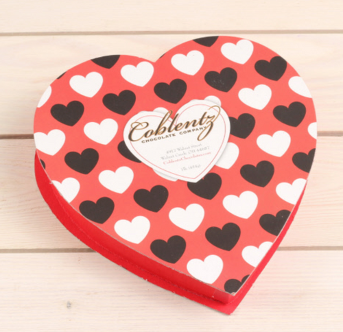 Large Valentines Chocolate Heart Box - 1lb