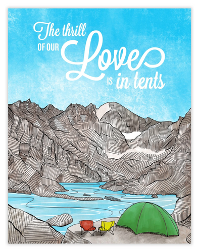 Love Is In-Tents Card