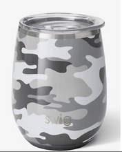 Load image into Gallery viewer, Insulated Stemless Wine Glass Camo