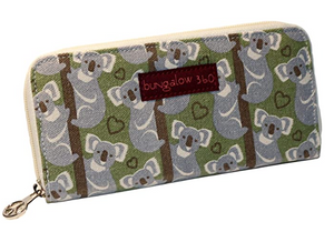 Koala Zip Around Large Wallet