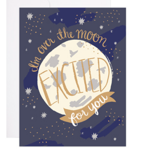 Excited Over the Moon Card