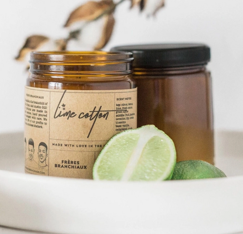 Lime Cotton 4oz Candle
