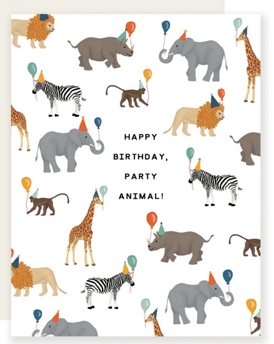 Safari Party Animal Birthday Card