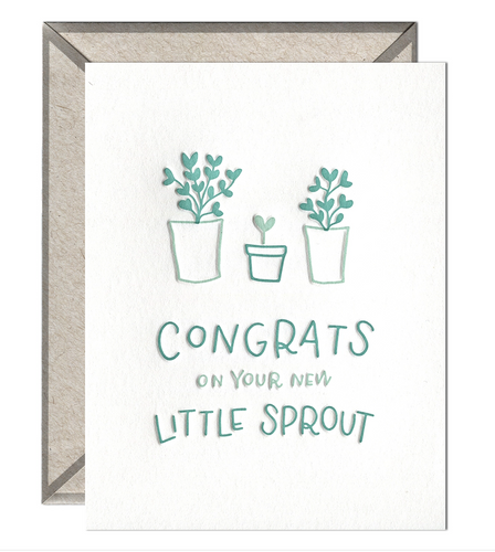 Little Sprout Congrats Card