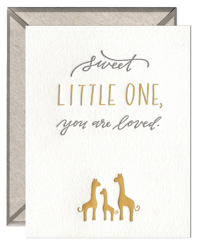 Sweet Little One Baby Card