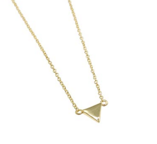 Minimalist Triangle Necklace Gold