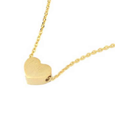 Minimalist Heart Necklace Gold
