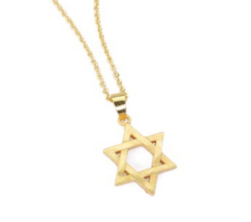 Star of David Necklace 20K Gold Plate