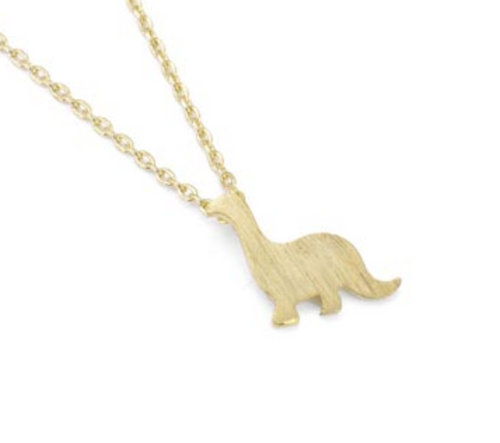 Dinosaur Gold Necklace