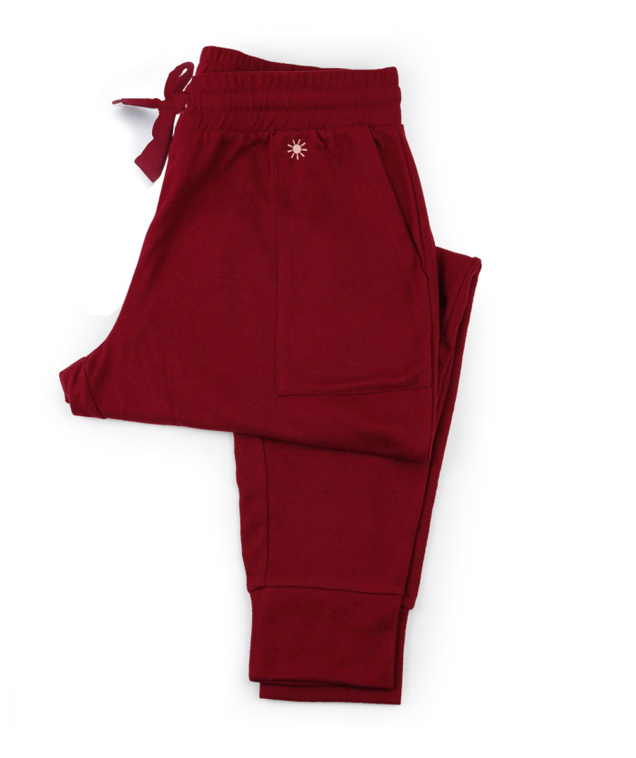 Hello Sunshine Red Joggers Small