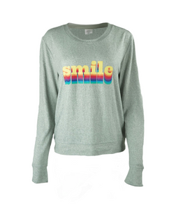 Smile Grey Knit Top