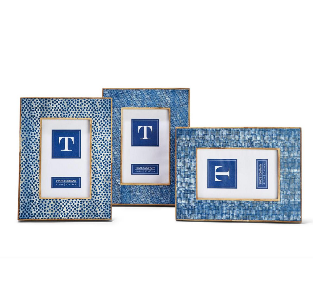 Blue Shibori 4x6 Photo Frame