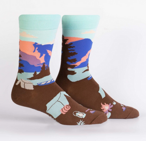 Glacier National Park Mens Crew Sock