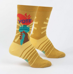 Liberty Enlights the World Crew Socks