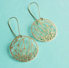 Load image into Gallery viewer, Circle Geometric Earrings - Brass