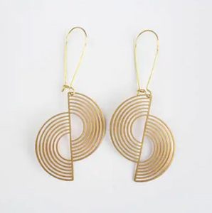 Split Circle Earrings - Brass