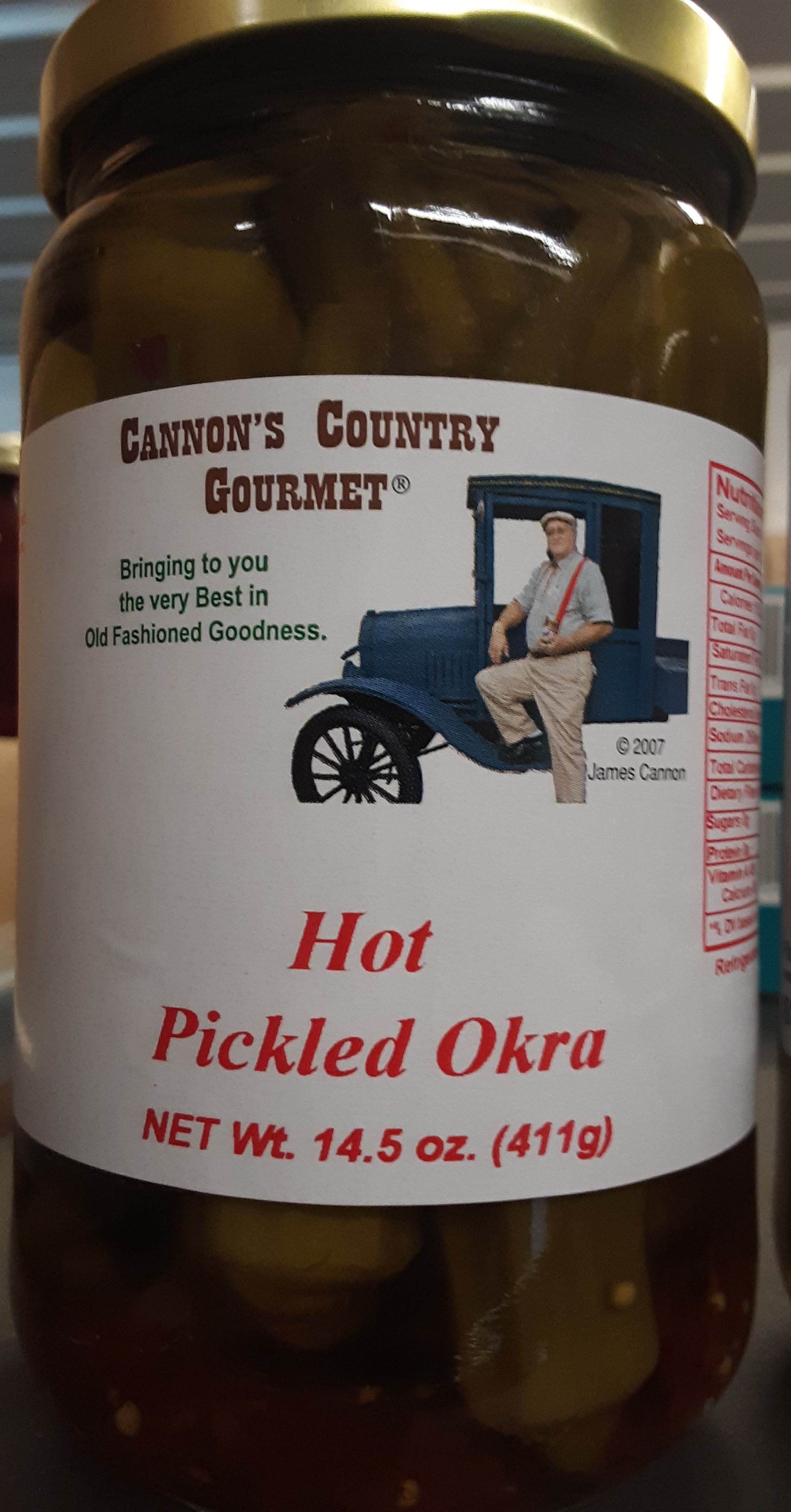 Pickled Okra - Hot - Cannon's Country Gourmet