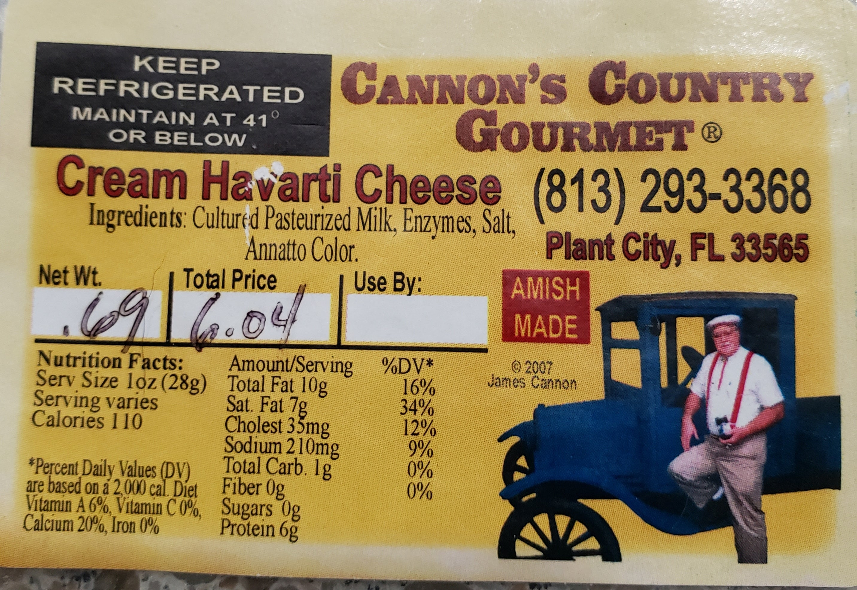 Cheese - Cream Havarti $4.03 per 1/2 lb.