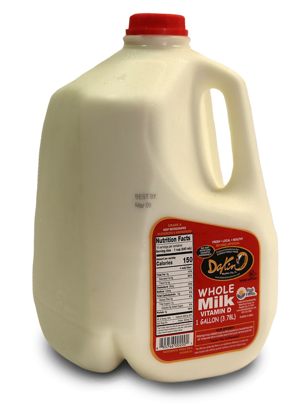 Milk - Whole Milk - 1 Gallon - Dakin