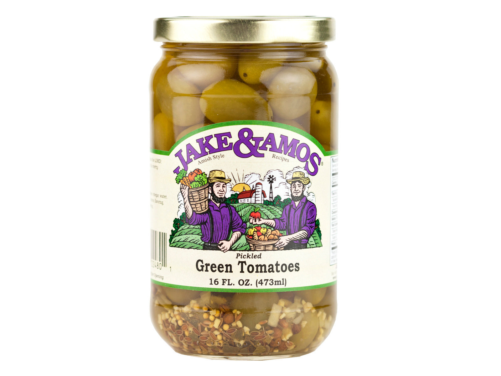 Pickled Green Tomato Pickle - Jake & Amos