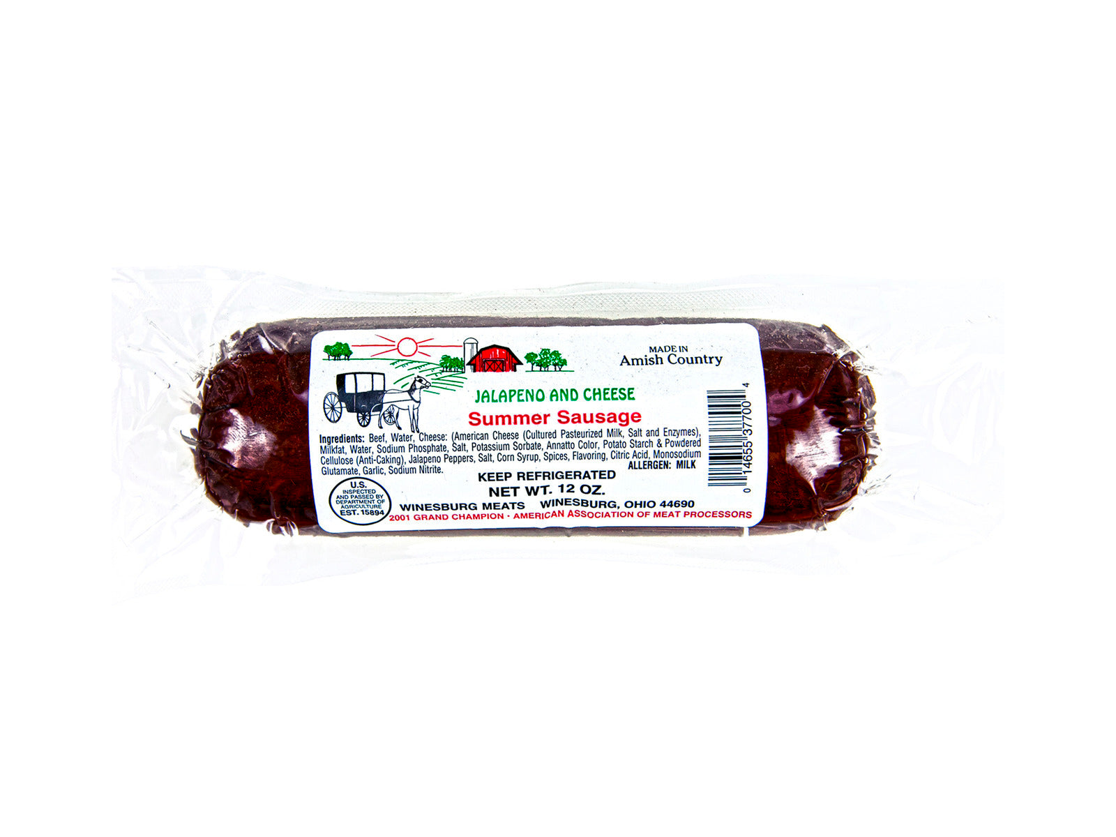 Meats - Summer Sausage - Jalapeno Cheese