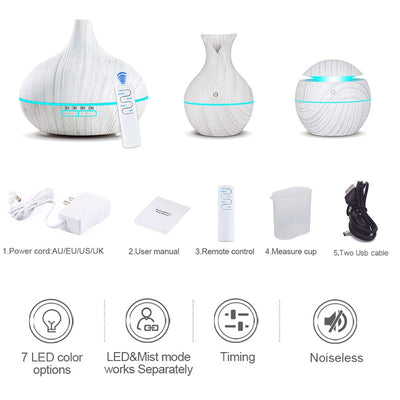 Essential Oil Diffuser Whole House Humidifier 3-Piece Set
