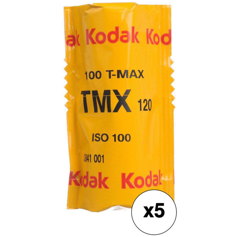 Kodak T-MAX 100 Black & White 120 Film - Box (5 Rolls)
