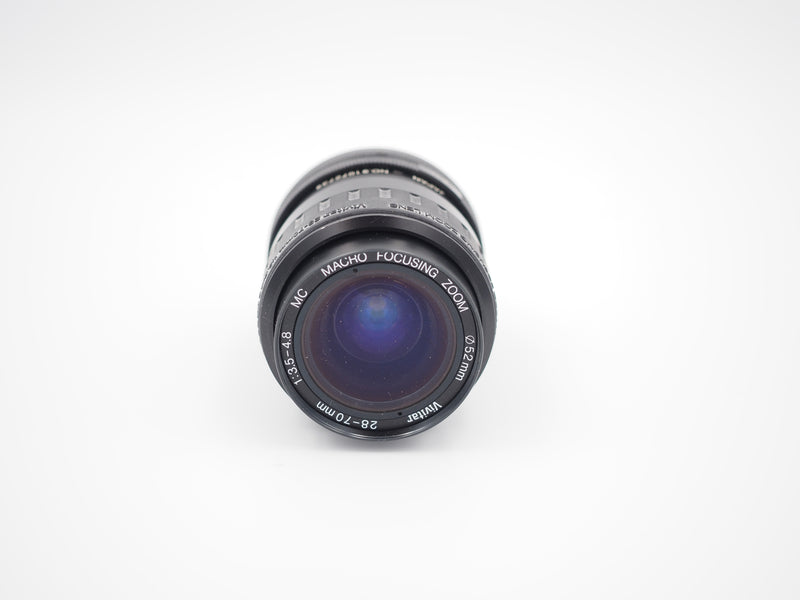 Used Vivitar 28-70mm f3.5-4.8 macro focusing for Canon FD