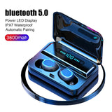 3600mAh TWS Wireless Earphones Power Display Touch Control