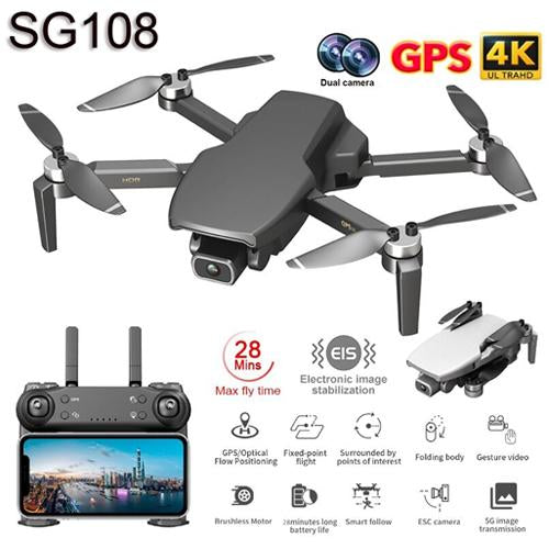 SG108 WiFi GPS Drone brushless Motor FPV drone 240 Grams flight for 25 min RC Distance 1km RC Quadcopter - A1smartshop