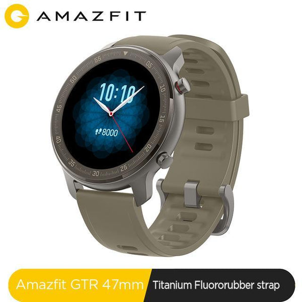 Global Version Amazfit GTR 47mm 5ATM Titanium Edition Smartwatch - A1smartshop