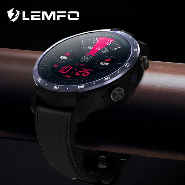 LEMFO LEM12 PRO Smart Watch Android 10 MT6762 CPU Wireless Projection 900mAh Power Bank Face ID Dual Cameras - A1smartshop